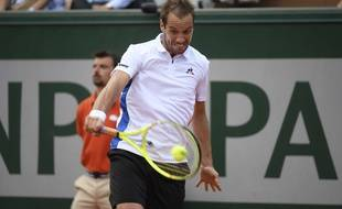 Richard Gasquet during his match against Arthur De Greef  during the day two at Roland Garros 2017 French Open Tennis, Day Two, Roland Garros, Paris, France - 29 May 2017