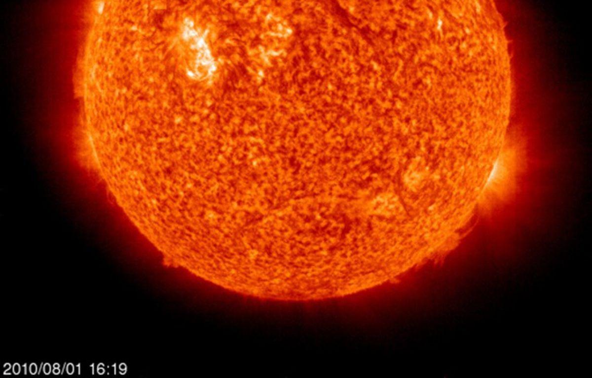 Une vue du Soleil prise par la Nasa le 1er août 2010. – HO / NASA / AFP