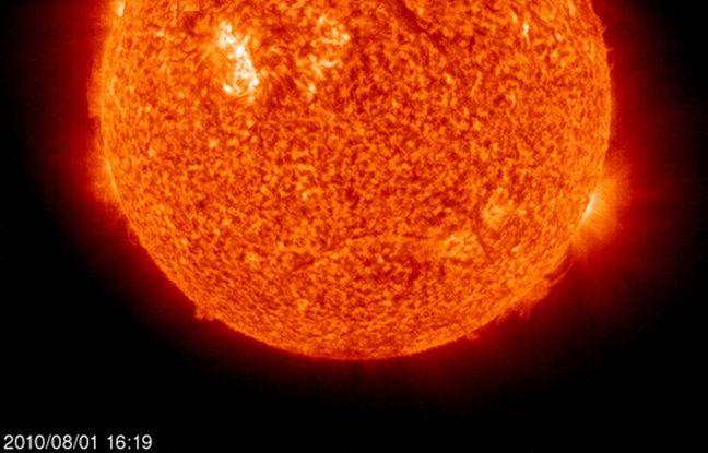 Une vue du Soleil prise par la Nasa le 1er août 2010.