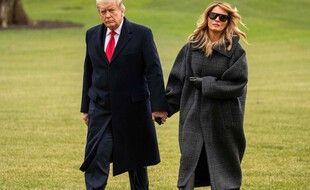 L'ex-président américain Donald Trump et son épouse Melania