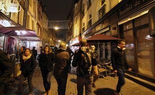 La rue Saint-Michel, également appelée rue de la Soif, à Rennes.