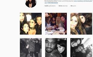 Le compte Instagram de Kim Kardashian.