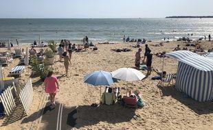 En août 2019, la plage de La Baule.