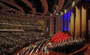 Un rassemblement de l'Eglise mormone aux Etats-Unis.