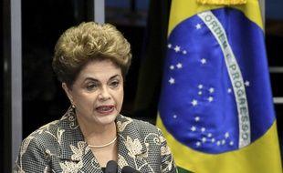Dilma Rousseff, le 29 août 2016 au Sénat à Brasilia (Brésil).