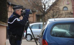 Des contrôles de vitesse effectués par la gendarmerie. (Illustration)