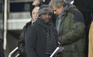Bernard Mendy lors d'un match du PSG