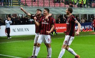 Andre Silva, Patrick Cutrone et Leonardo Bonucci évoluent au Milan AC