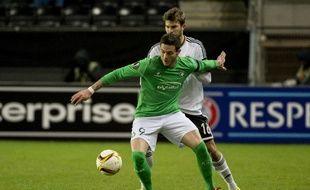 Nolan Roux face à Rosenborg, en Ligue Europa