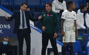 Julien Stéphan laisse éclater sa colère après l'expulsion de son défenseur Dalbert.