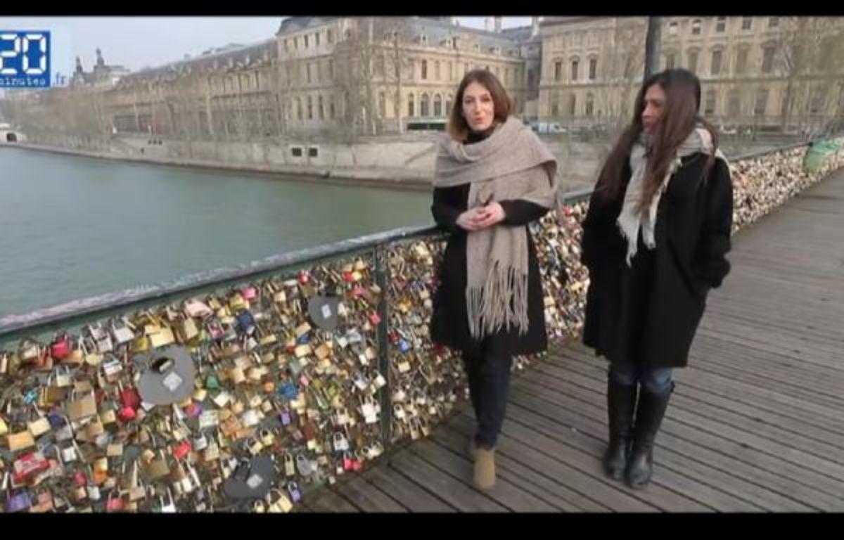 Le 4 avril 2013, l'association Ni pute ni soumises a fêté ses 10 ans par une action sur le pont des Arts, à Paris. – A.GELABART/20MINUTES