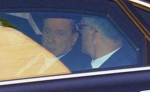 Le président du Conseil italien, Silvio Berlusconi, à son arrivée au tribunal de Milan, en Italie, le 11 avril 2011.