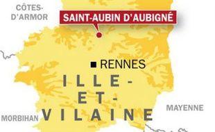 Carte de localisation de Saint-Aubin-d'Aubigné.