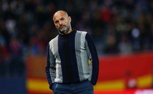 L'entraîneur du TFC Pascal Dupraz lors du match de Ligue 1 à Caen, le 1er octobre 2016.