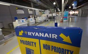 Illustration de la compagnie d'aviation Ryanair.
