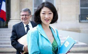 Fleur Pellerin à la sortie du conseil des ministres, le 23 mai 2012.