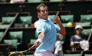 Le tennisman Richard Gasquet, lors de sa victoire à Roland-Garros, le 29 mai contre Jurgen Zopp.