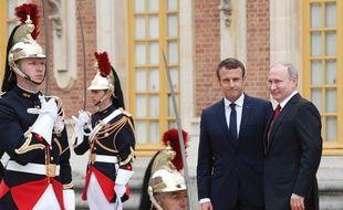 Le Président russe Vladimir Poutine est reçu lundi 29 mai 2017 au Château de Versailles pour Emmanuel Macron.