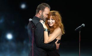Sting et Mylène Farmer aux NRJ Music Awards 2015.