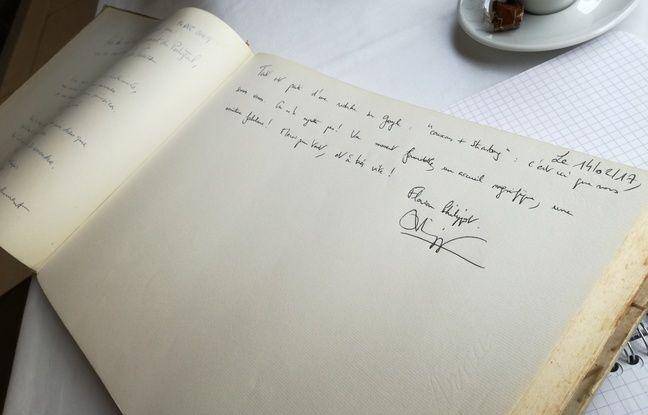 Le mot de Florian Philippot dans le livre d'or du restaurant strasbourgeois, inscrit en février 2017.