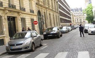 C'est au 13 de la rue Docteur-Lancereaux que Nicolas Sarkozy a installé son nouveau QG de campagne.