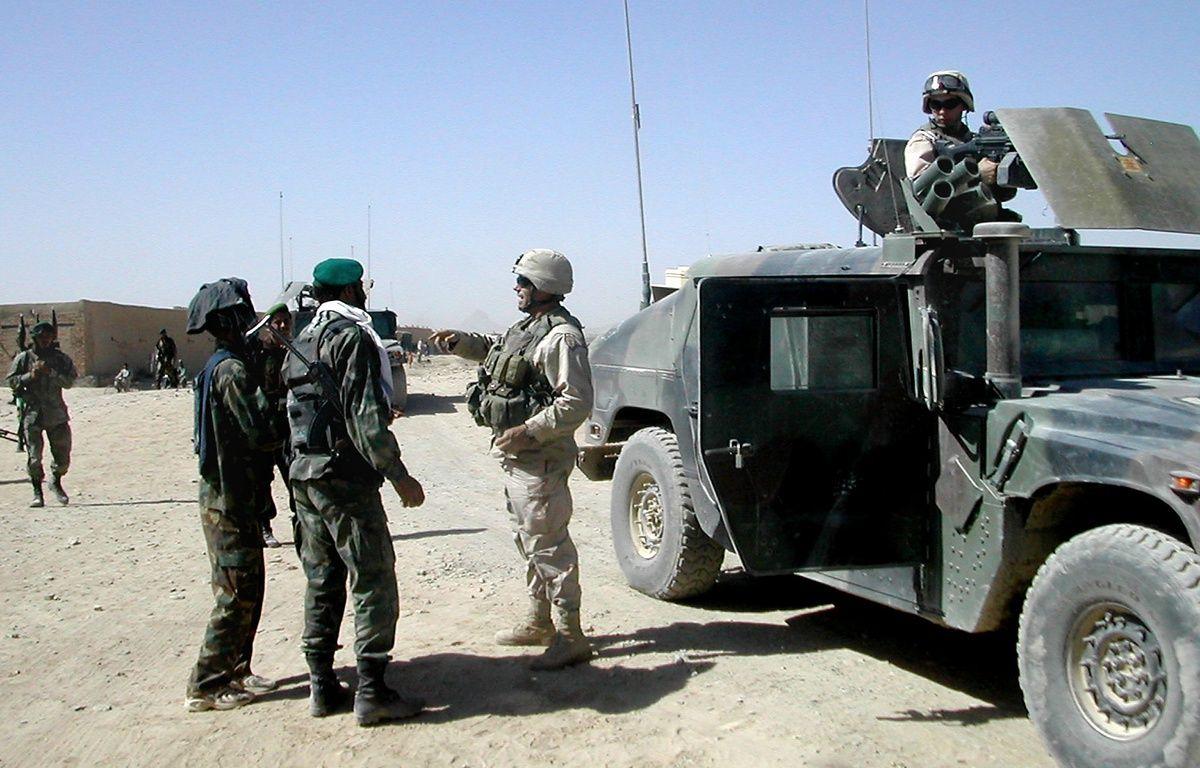 Des soldats américains et afghans à Kandahar en 2004 (illustration). – STR / AFP