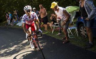 Joaquim Rodriguez, porteur du maillot à pois, lors de la 11e étape du Tour de France, le 16 juillet 2014.