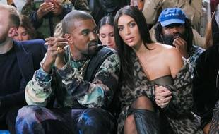 Kanye West et Kim Kardashian à la Fashion Week de Paris, le 29 septembre 2016.