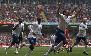 Le milieu de terrain anglais Franck Lampard, après un but en sélection contre le Pays de Galles, le 26 mars 2011.