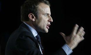 Emmanuel Macron en meeting à Arras, le 26 avril 2017.