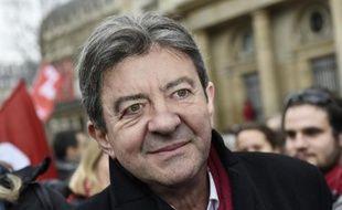 Le leader du Front de Gauche, Jean-Luc Mélenchon, le 15 février 2015 à Paris