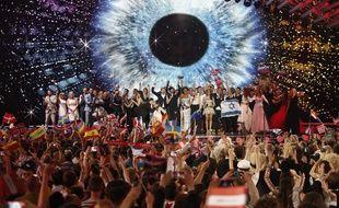 Au concours Eurovision 2015, à Vienne, en Autriche.