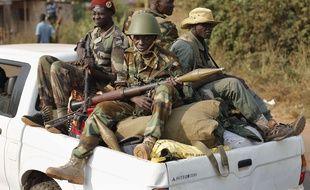 Des soldats d'une faction de l'ex-Séléka, en Centrafrique, en 2014.