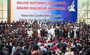 Session d'ouverture du Grand dialogue national à Yaoundé au Cameroun le 30 septembre 2019.
