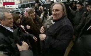 Gérard Depardieu à Moscou, le 21 février 2013.