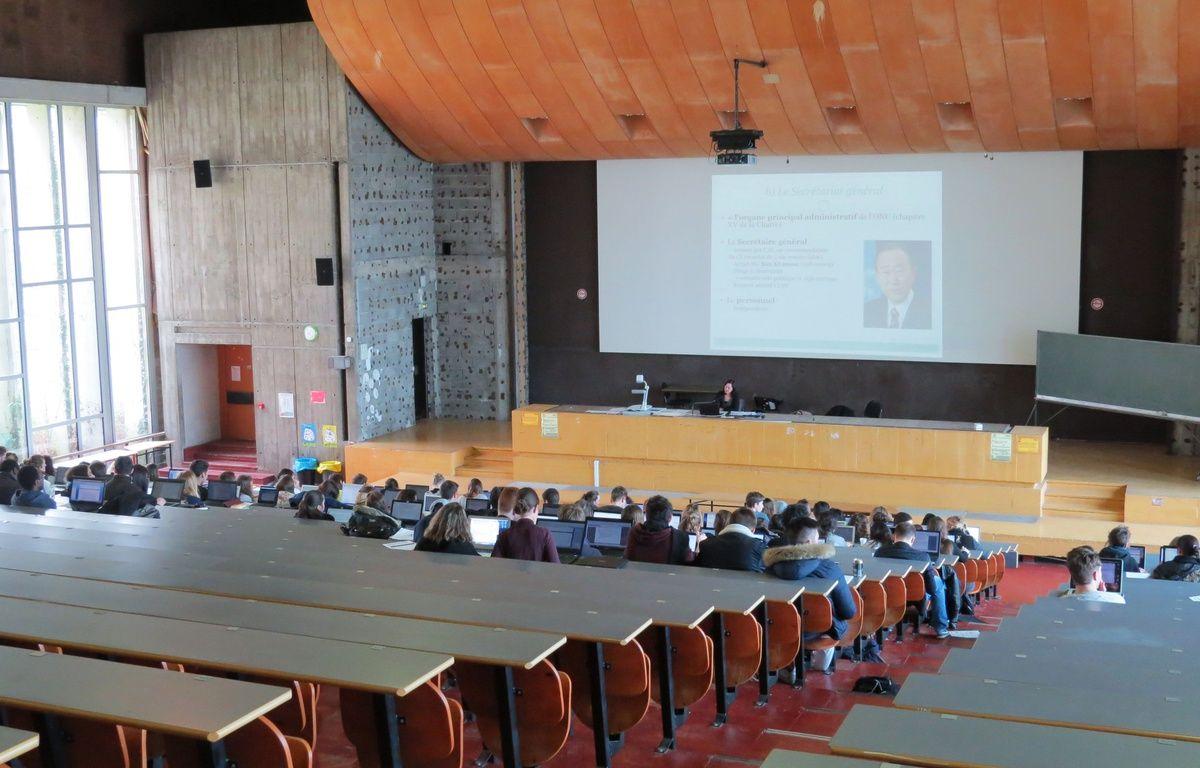 Nantes, le 3 mars 2016, un amphitéâtre de la faculté de Droit – Frédéric Brenon