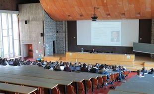 Nantes, le 3 mars 2016, un amphitéâtre de la faculté de Droit