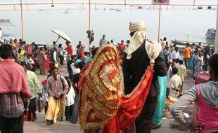 Illustration d'un mariage en Inde.