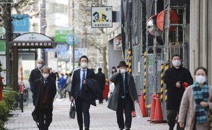 Une rue de Tokyo le 10 février 2021.