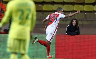 Kylian Mbappé a inscrit un doublé lors de Monaco-Nantes (4-0), le 5 mars 2017.