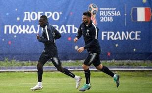 Blaise Matuidi et Olivier Giroud à l'entraînement à Istra, le 11 juin 2018.
