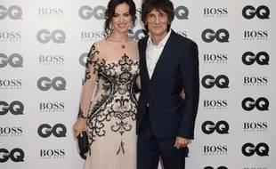 Ronnie Wood and wife Sally Humphreys  pose for photographers at the GQ Men of the Year Awards 2015 at a central London venue, London, Tuesday, Sept. 8, 2015. (Photo by Jonathan Short/Invision/AP)/LJS/374780451622/090815112356, 21334631, /1509090113