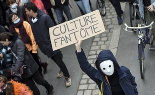 Manifestation à Nantes en faveur de la réouverture des lieux culturels, le 19 janvier 2021.