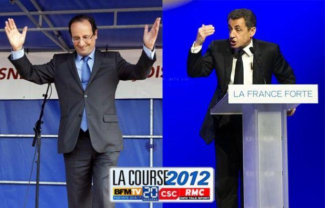 François Hollande à Hirson et Nicolas Saroky à Longjumeau en meeting le 24 avril.