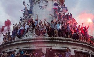 La place de la République à Paris le 15 juillet 2018.