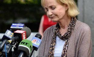 Lyn Ulbricht, la mère de Ross Ulbricht, après avoir appris la condamnation de son fils à la réclusion à perpétuité, le 29 mai 2015 à New York