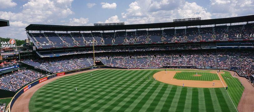 Un terrain de baseball. (illustration)