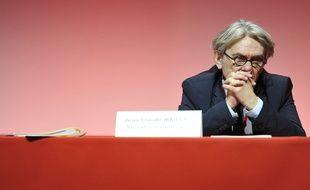 Jean-Claude Mailly, secrétaire général sortant de Force Ouvrière.