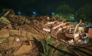 Un immeuble s'est effondré le 24 août 2020 à Mahad (Inde), tuant 16 personnes.