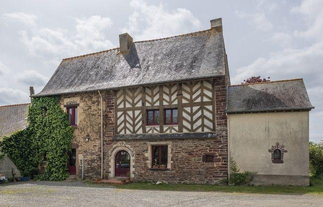 Une maison à pan de bois, ici à Chavagne, près de Rennes.